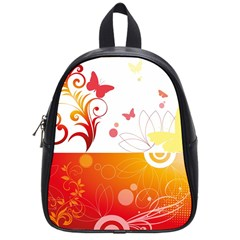 Spring Butterfly Flower Plant School Bag (small) by BangZart