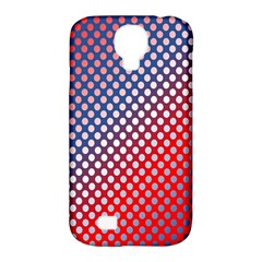Dots Red White Blue Gradient Samsung Galaxy S4 Classic Hardshell Case (pc+silicone) by BangZart