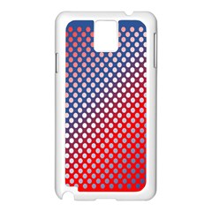 Dots Red White Blue Gradient Samsung Galaxy Note 3 N9005 Case (white)