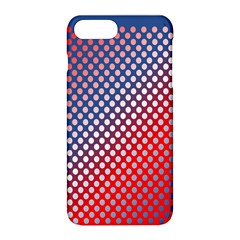 Dots Red White Blue Gradient Apple Iphone 8 Plus Hardshell Case