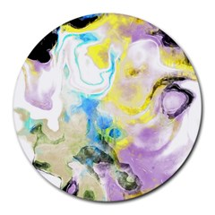 Watercolour Watercolor Paint Ink Round Mousepads by BangZart
