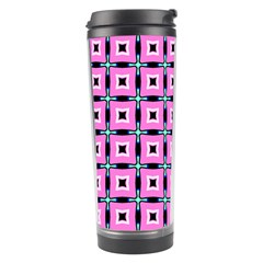 Pattern Pink Squares Square Texture Travel Tumbler by BangZart