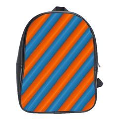 Diagonal Stripes Striped Lines School Bag (xl) by BangZart