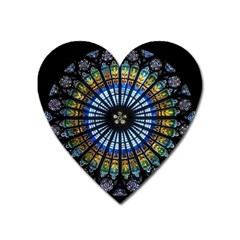 Rose Window Strasbourg Cathedral Heart Magnet by BangZart