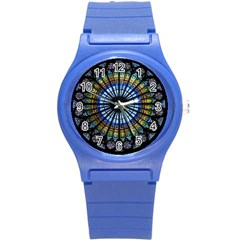 Rose Window Strasbourg Cathedral Round Plastic Sport Watch (s) by BangZart