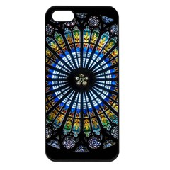 Rose Window Strasbourg Cathedral Apple Iphone 5 Seamless Case (black) by BangZart