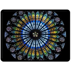 Rose Window Strasbourg Cathedral Double Sided Fleece Blanket (large)  by BangZart