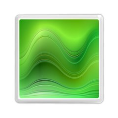 Green Wave Background Abstract Memory Card Reader (square)  by BangZart