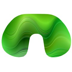 Green Wave Background Abstract Travel Neck Pillows