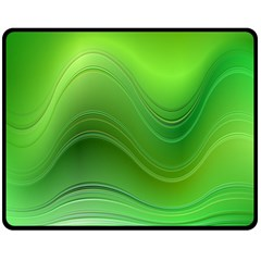 Green Wave Background Abstract Double Sided Fleece Blanket (medium)