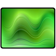 Green Wave Background Abstract Double Sided Fleece Blanket (large)  by BangZart