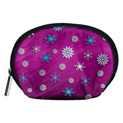 Snowflakes 3d Random Overlay Accessory Pouches (medium)  by BangZart