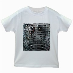 Skyscraper Glass Facade Offices Kids White T Shirts