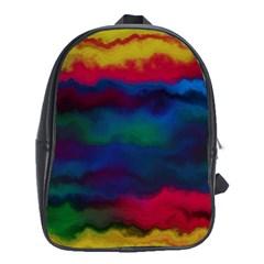 Watercolour Color Background School Bag (xl) by BangZart