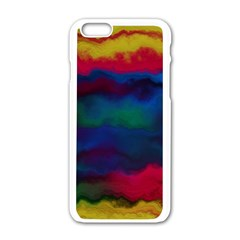 Watercolour Color Background Apple Iphone 6/6s White Enamel Case by BangZart