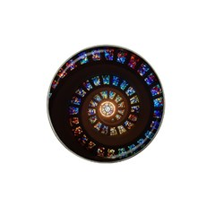 Stained Glass Spiral Circle Pattern Hat Clip Ball Marker by BangZart