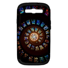 Stained Glass Spiral Circle Pattern Samsung Galaxy S Iii Hardshell Case (pc+silicone) by BangZart
