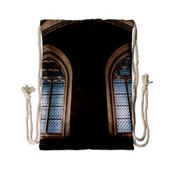 Church Window Church Drawstring Bag (small) by BangZart