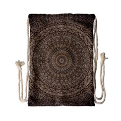 Background Mandala Drawstring Bag (small) by BangZart