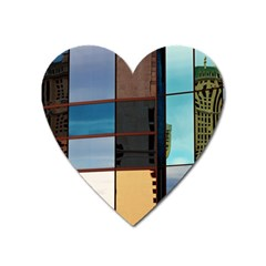 Glass Facade Colorful Architecture Heart Magnet by BangZart