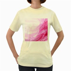 Material Ink Artistic Conception Women s Yellow T Shirt by BangZart