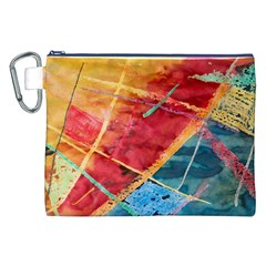 Painting Watercolor Wax Stains Red Canvas Cosmetic Bag (xxl) by BangZart