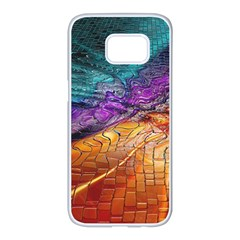 Graphics Imagination The Background Samsung Galaxy S7 Edge White Seamless Case by BangZart