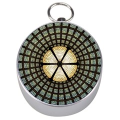 Stained Glass Colorful Glass Silver Compasses by BangZart