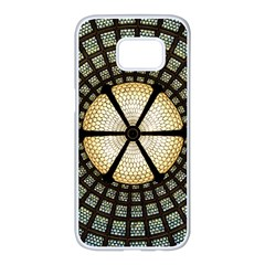 Stained Glass Colorful Glass Samsung Galaxy S7 Edge White Seamless Case
