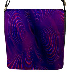 Abstract Fantastic Fractal Gradient Flap Messenger Bag (s) by BangZart
