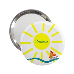Summer Beach Holiday Holidays Sun 2 25  Handbag Mirrors