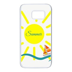 Summer Beach Holiday Holidays Sun Samsung Galaxy S7 White Seamless Case by BangZart