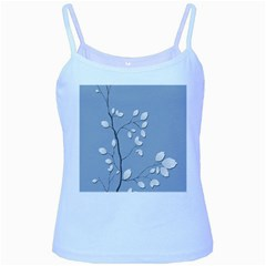Branch Leaves Branches Plant Baby Blue Spaghetti Tank