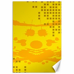 Texture Yellow Abstract Background Canvas 12  X 18   by BangZart