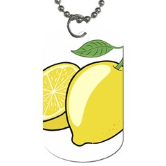 Lemon Fruit Green Yellow Citrus Dog Tag (two Sides) by BangZart