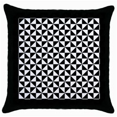 Triangle Pattern Simple Triangular Throw Pillow Case (black)