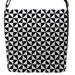 Triangle Pattern Simple Triangular Flap Messenger Bag (s) by BangZart