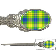 Spring Plaid Yellow Blue And Green Letter Openers by BangZart