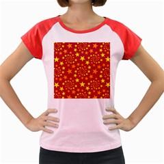 Star Stars Pattern Design Women s Cap Sleeve T Shirt