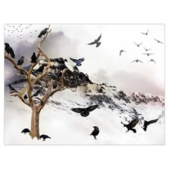 Birds Crows Black Ravens Wing Canvas Cosmetic Bag (xxl)