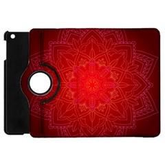 Mandala Ornament Floral Pattern Apple Ipad Mini Flip 360 Case by BangZart