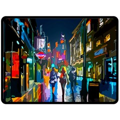 Abstract Vibrant Colour Cityscape Double Sided Fleece Blanket (large)  by BangZart