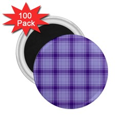 Purple Plaid Original Traditional 2 25  Magnets (100 Pack)  by BangZart