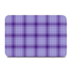 Purple Plaid Original Traditional Plate Mats by BangZart