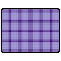 Purple Plaid Original Traditional Fleece Blanket (large)  by BangZart