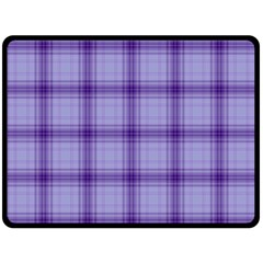 Purple Plaid Original Traditional Double Sided Fleece Blanket (large)  by BangZart