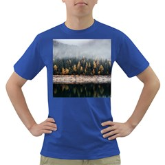 Trees Plants Nature Forests Lake Dark T Shirt by BangZart