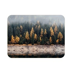 Trees Plants Nature Forests Lake Double Sided Flano Blanket (mini)  by BangZart