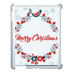 Merry Christmas Christmas Greeting Apple Ipad 3/4 Case (white) by BangZart