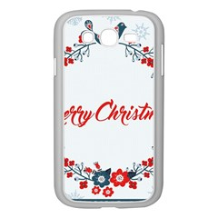 Merry Christmas Christmas Greeting Samsung Galaxy Grand Duos I9082 Case (white) by BangZart